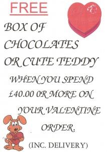 free chocolates or lovesick puppy